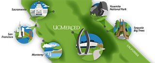 UC Merced Map - Central California